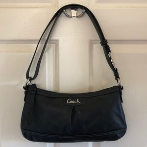 Black Leather Shoulder/Cross-body Bag by Coach